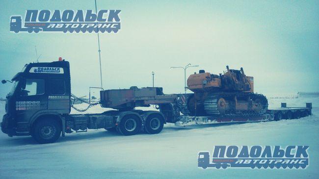 Транспортировка трубоукладчиков зимой